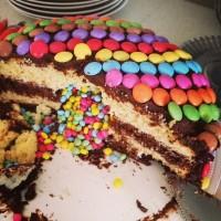 Smarties Rainbow Pinata Cake